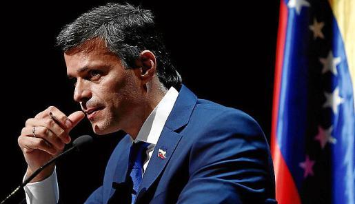 Comparecencia del líder opositor venezolano Leopoldo López.