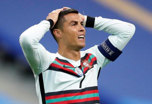 Cristiano Ronaldo durante un partido con Portugal.