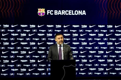 El expresidente barcelonista, el día que anunció su marcha del club.