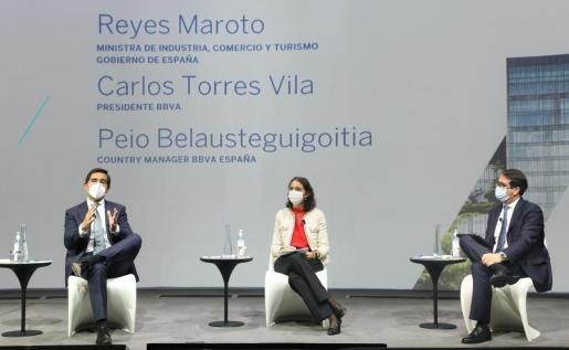 El presidente de BBVA, Carlos Torres Vila se reúne con destacados empresarios de Baleares, consejeros asesores regionales de BBVA en España.