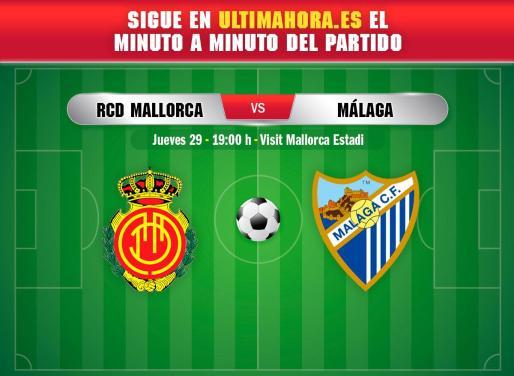 El Real Mallorca recibe este jueves al Málaga en el estadio de Son Moix.