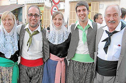 Cecilia Sánchez, Gaspar Guaita, Antoni Guaita, Margalida Parma y Miguel Parma.