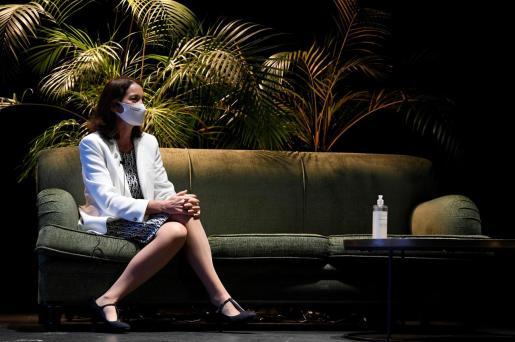 La ministra de Industria, Comercio y Turismo, Reyes Maroto, durante el acto de entrega de los XIV Premios Nacionales de Hostelería.