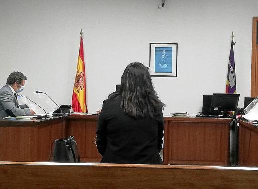 La acusada, en el juicio celebrado en Palma.
