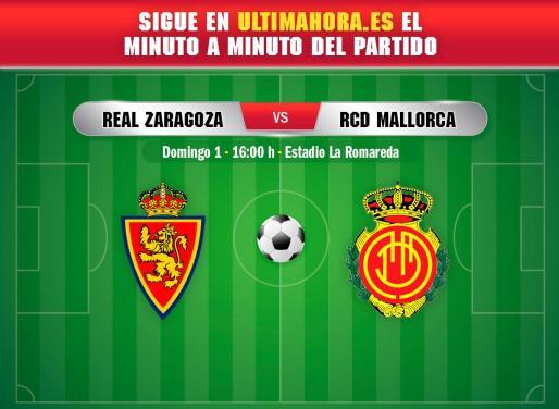 El Real Mallorca visita este domingo La Romareda en busca de una nueva victoria.