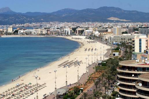La Playa de Palma, en una imagen de archivo.