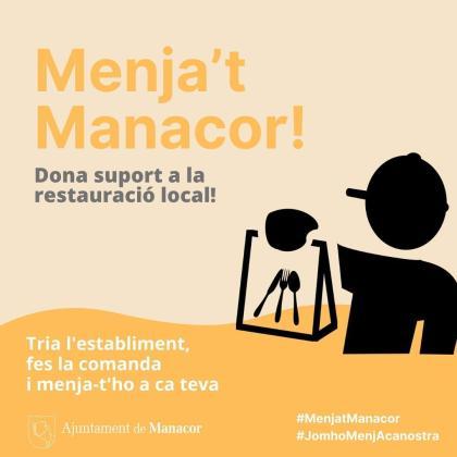 La campaña 'Menja't Manacor' apoya a los bares y restaurantes.