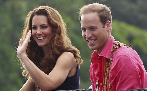 Los duques de Cambridge, durante su visita a las islas Salomon.
