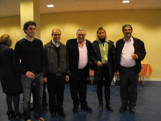Borja Pons, Tomeu Oliver, Pere A. Serra, Irena Ludsevika y Toni Pons.