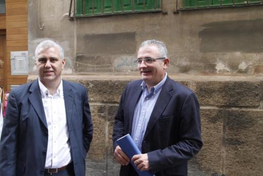 Josep Melià y Jaume Font, esta mañana antes de explicar su proyecto político.