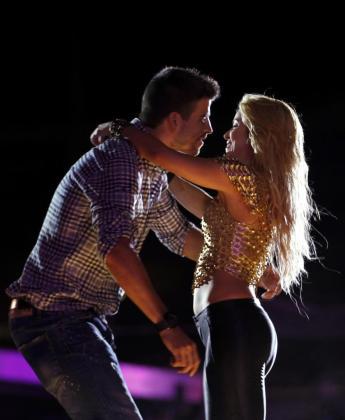 Shakira y Gerard Piqué, durante un concierto de la colombiana en Barcelona, ciudad en la que tienen fijada su residencia.