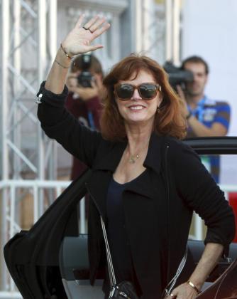 La actriz norteamericana Susan Sarandon ha hecho una parada en Bilbao antes de llegar a San Sebastián, donde participará en el festival de cine.