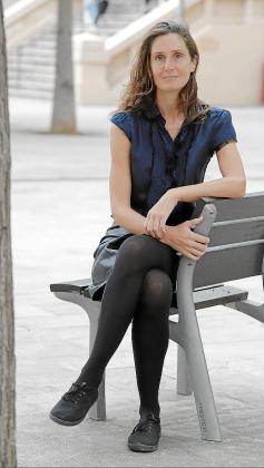 La artista, durante la entrevista.