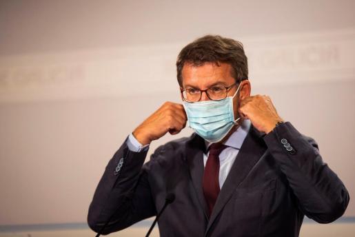 El Presidente de la Xunta de Galicia, Alberto Nuez Fejio, durante una reciente rueda de prensa.
