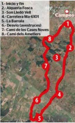 Ruta por las 'possessions' del sur de Campos