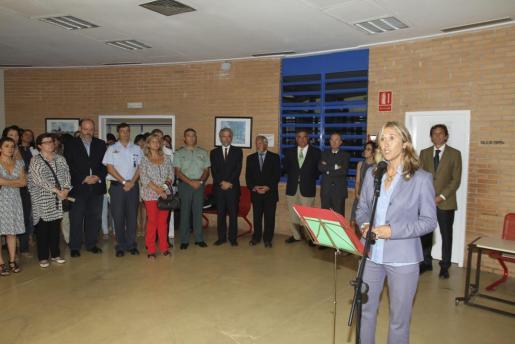 La delegada del Gobierno, Teresa Palmer, durante el acto que ha tenido lugar hoy en la cárcel de Palma con motivo de la Mercé.