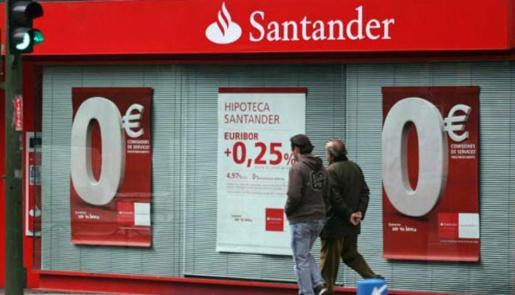 Oficina del Banco Santander en Madrid.