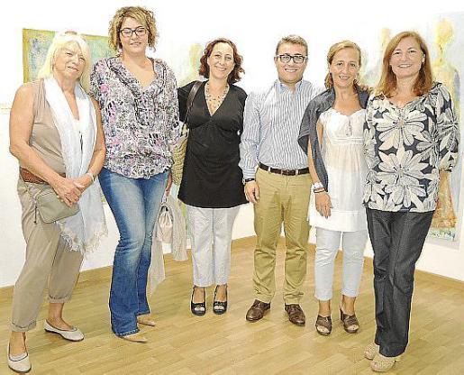 Bárbara Radinguer, María del Carmen Oses, Marixé Fernández, Virgilio Moreno, Antònia Sabater y Marga Llobera.