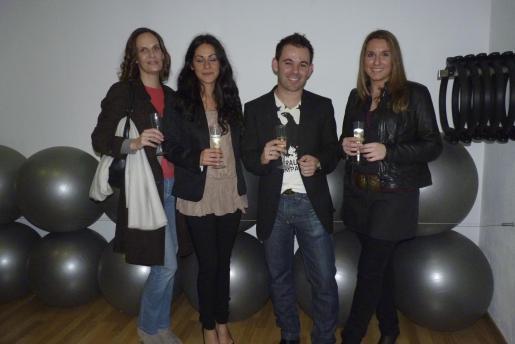 Julia Müller, los profesores Marga Garau y Juan Miguel Coll, y Marta Jiménez.