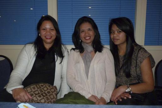 Erna Ancheta, Marimel Calaranxn y Ana Pamela Polintang.