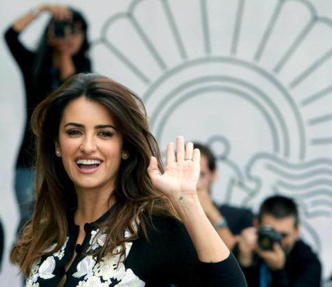 La actriz Penélope Cruz a su llegada hoy al Festival Internacional de Cine de San Sebastián.