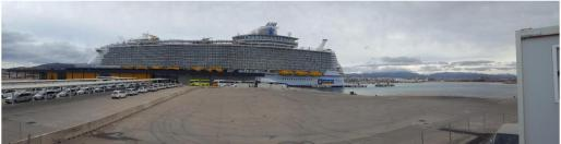La Plataforma contra los megacruceros considera una cuestión «clave» a abordar el «sobredimensionamiento» del puerto de Palma.