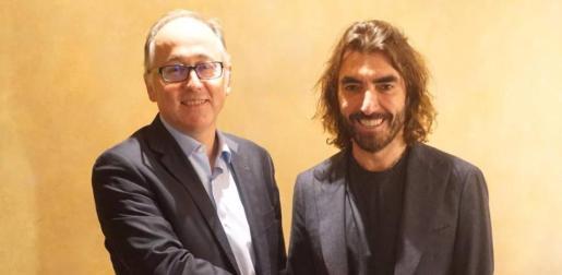 El consejero delegado de IAG, Luis Gallego junto a Javier Hidalgo, CEO de Globalia.