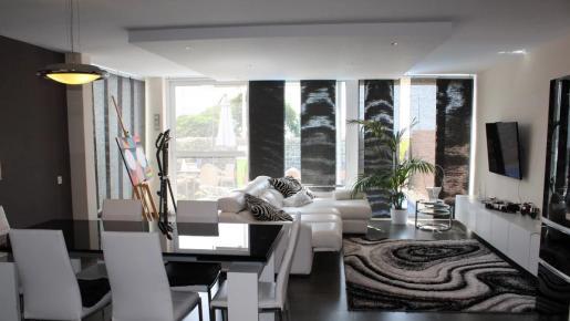 Sala de estar de la villa que se sortea en Tenerife.