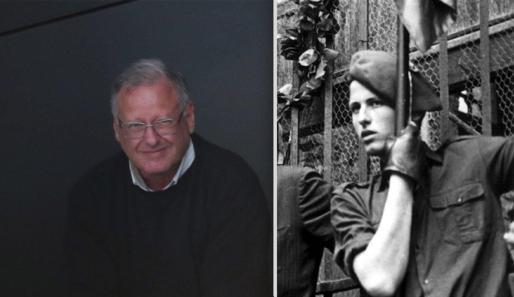 El autor de la matanza de los abogados de Atocha, en una foto actual y otra de 1977, ha salido de prisión este 19 de noviembre.