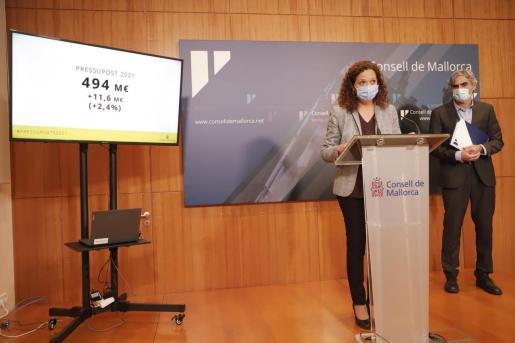 Catalina Cladera, durante la rueda de prensa.