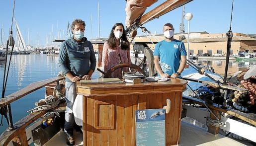 Científicos y voluntarios de la fundación Save The Med realizan campañas periódicas de limpieza del mar.