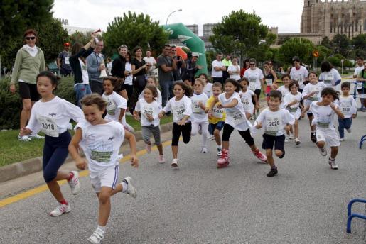 Los más pequeños también participaron en la maratón.