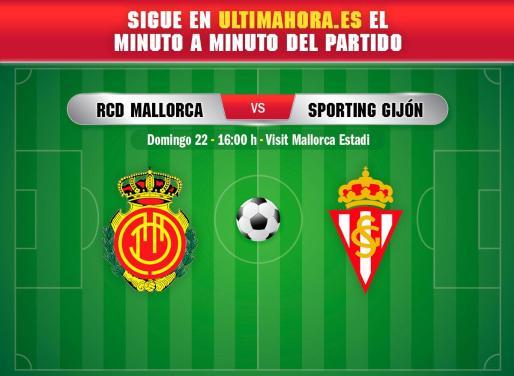 El Real Mallorca recibe este domingo en Son Moix al Sporting de Gijón.
