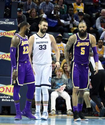 Imagen de archivo del 8 de diciembre de 2018 Marc Gasol (c), que ha fichado por Los Ángeles Lakers para las dos próximas temporadas.