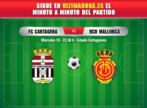 El Real Mallorca visita este miércoles el municipal de Cartagonva para enfrentarse al Cartagena.