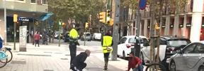 Dos heridos tras chocar un patinete eléctrico y un bicicleta en la calle Balmes de Palma
