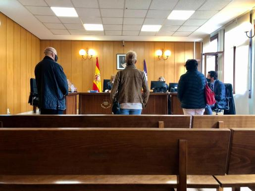 Los tres acusados, este jueves durante el juicio.
