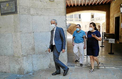Carlos Gómez, tras una de las sesiones de la instrucción contra Penalva y Subirán.