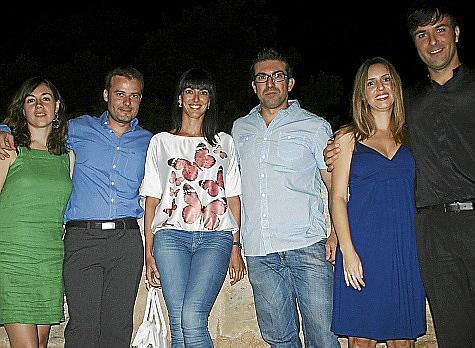 Mariángeles Moya, Félix Sánchez, Conchita Sampol, Pep Toni Jordi, Ana Rullán y Juanjo Pardo.