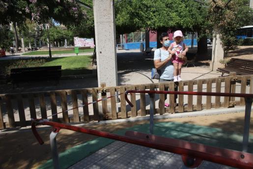 Imagen de archivo de un parque infantil de Palma.