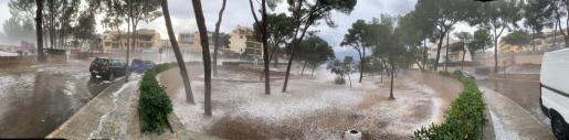 Precipitaciones este viernes en Santa Ponça.