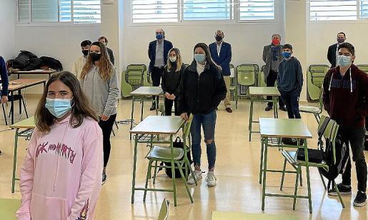 Los alumnos de 4º de la ESO, en la presentación de 'Somos Más'.