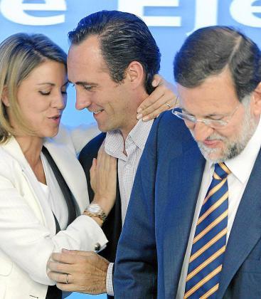 Cospedal, Bauzá y Rajoy, en una pasada reunión de la dirección del PP.