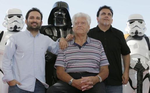 Cabotá, Prowse y Bestard, en una imagen juntos tras el estreno del documental.