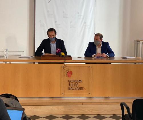 Marc Pons y Miquel Mir en rueda de prensa,