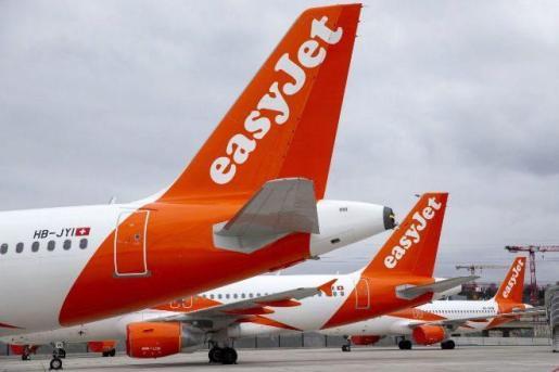 Aviones de la compañia easyJet.