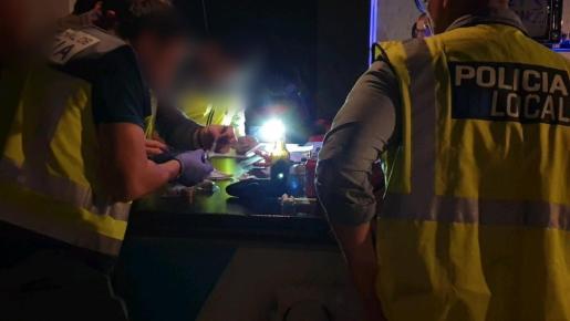 Imagen de archivo de una inspección policial.