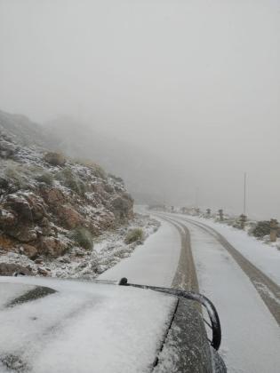 Nieve en el Puig Major este miércoles, 2 de diciembre.