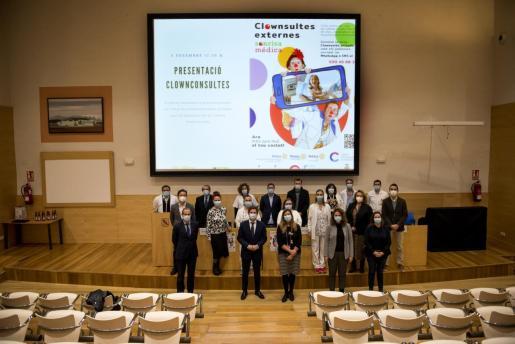 Presentación del proyecto en el salón de actos del centro hospitalario.