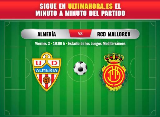 El Real Mallorca visita este jueves el estadio de los Juegos Mediterráneos de Almería.